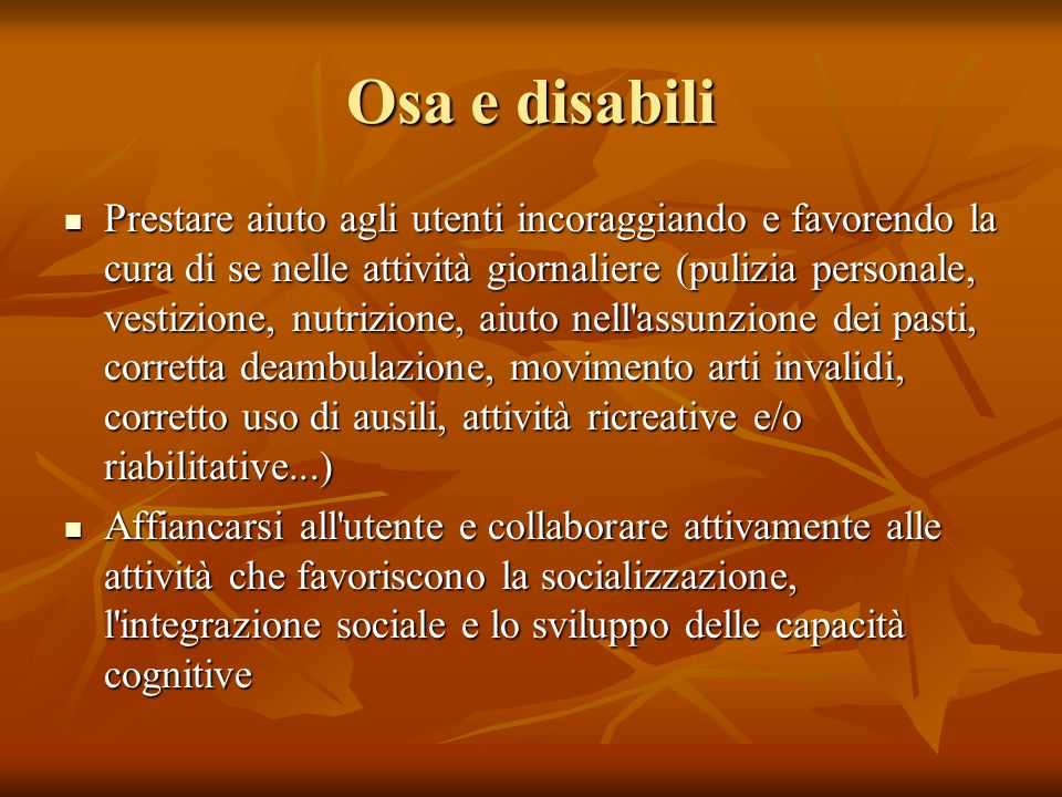 Osa e disabili