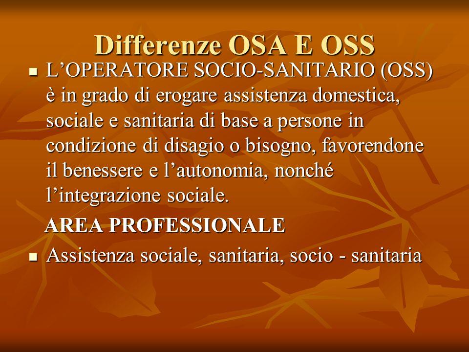 Differenze OSA E OSS
