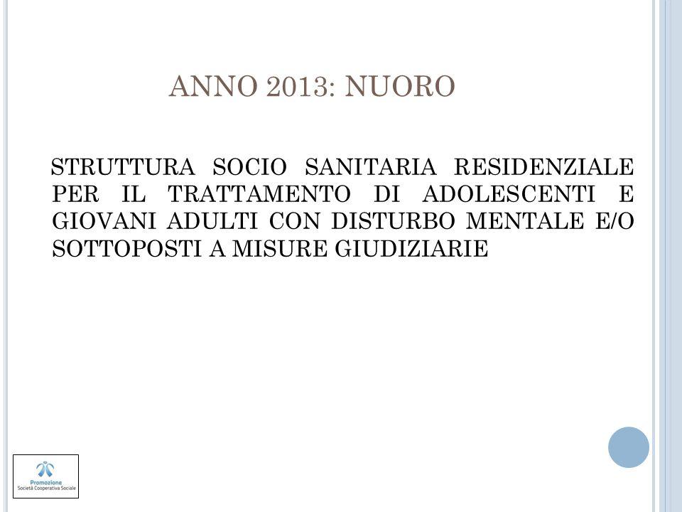 ANNO 2013: NUORO