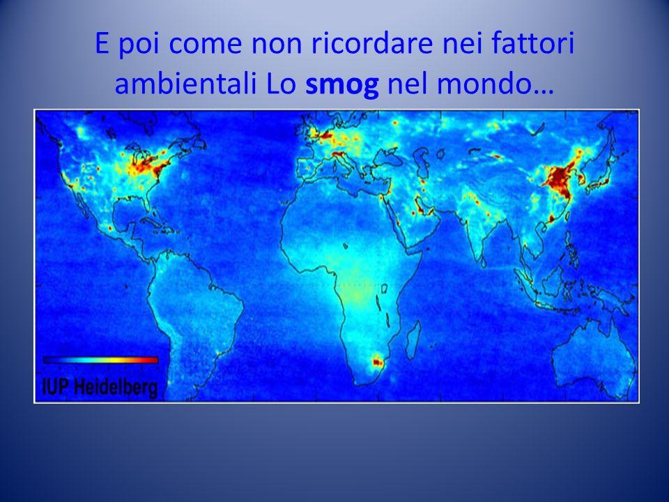 E poi come non ricordare nei fattori ambientali Lo smog nel mondo…