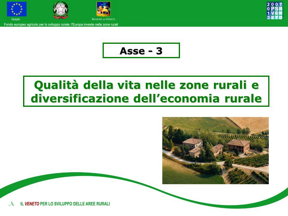 Asse - 3 Qualità della vita nelle zone rurali e diversificazione dell'economia rurale