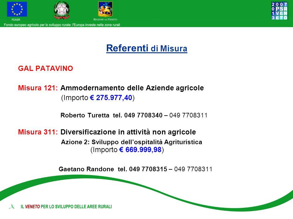 Referenti di Misura (Importo € 275.977,40)