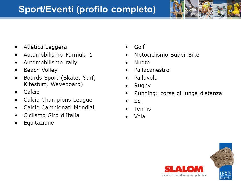 Sport/Eventi (profilo completo)