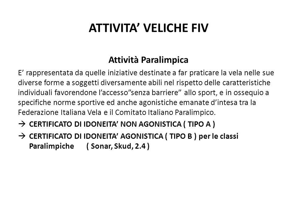 ATTIVITA' VELICHE FIV Attività Paralimpica