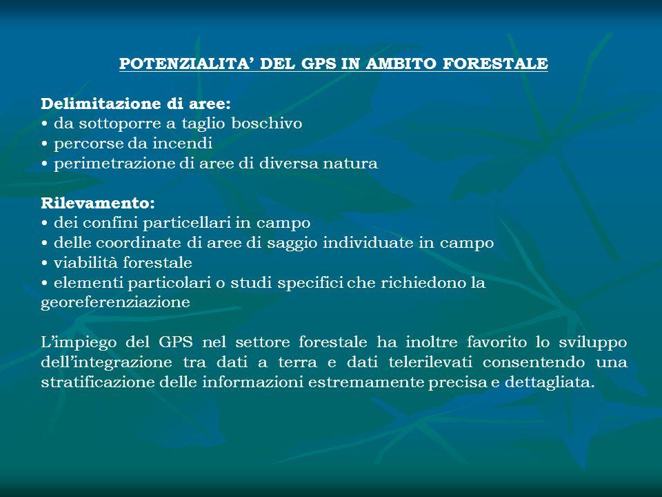 POTENZIALITA' DEL GPS IN AMBITO FORESTALE