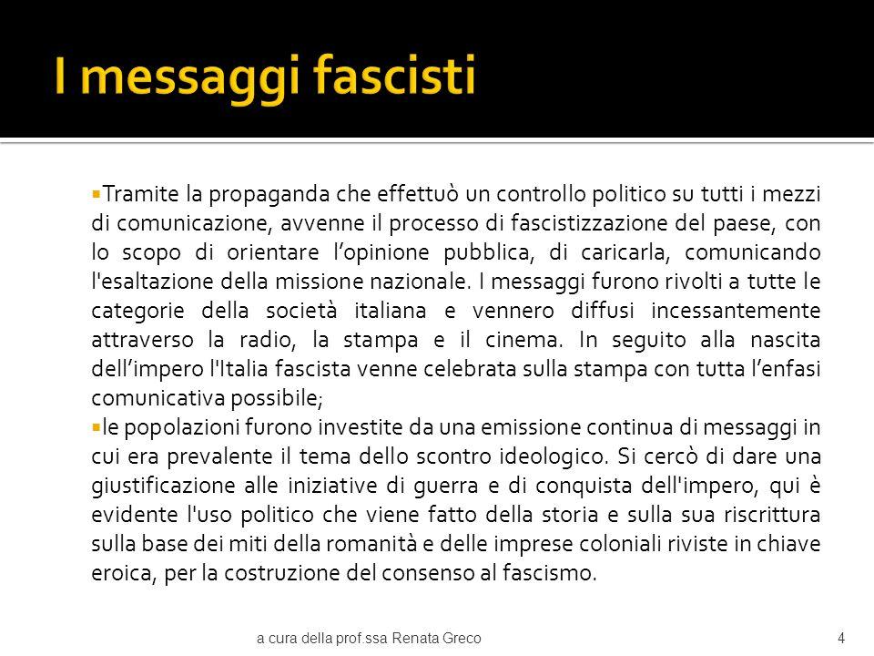 I messaggi fascisti