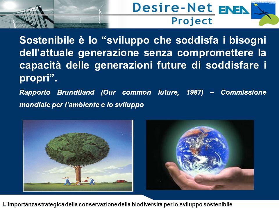 Sostenibile è lo sviluppo che soddisfa i bisogni dell'attuale generazione senza compromettere la capacità delle generazioni future di soddisfare i propri .