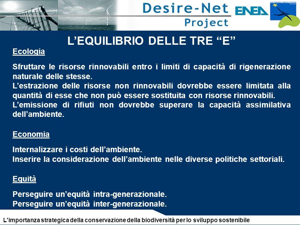 L'EQUILIBRIO DELLE TRE E