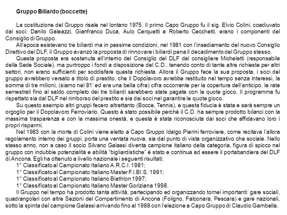 Gruppo Biliardo (boccette)