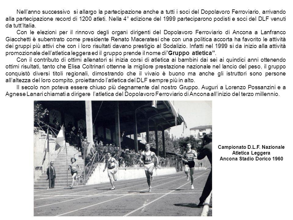 Campionato D.L.F. Nazionale Atletica Leggera Ancona Stadio Dorico 1960
