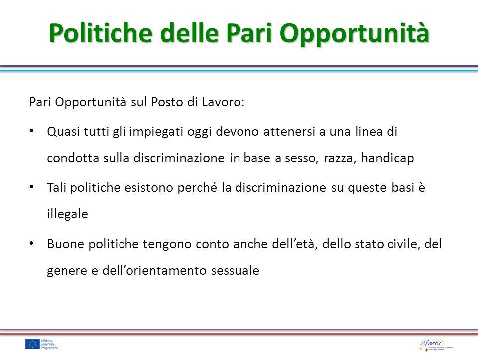Politiche delle Pari Opportunità
