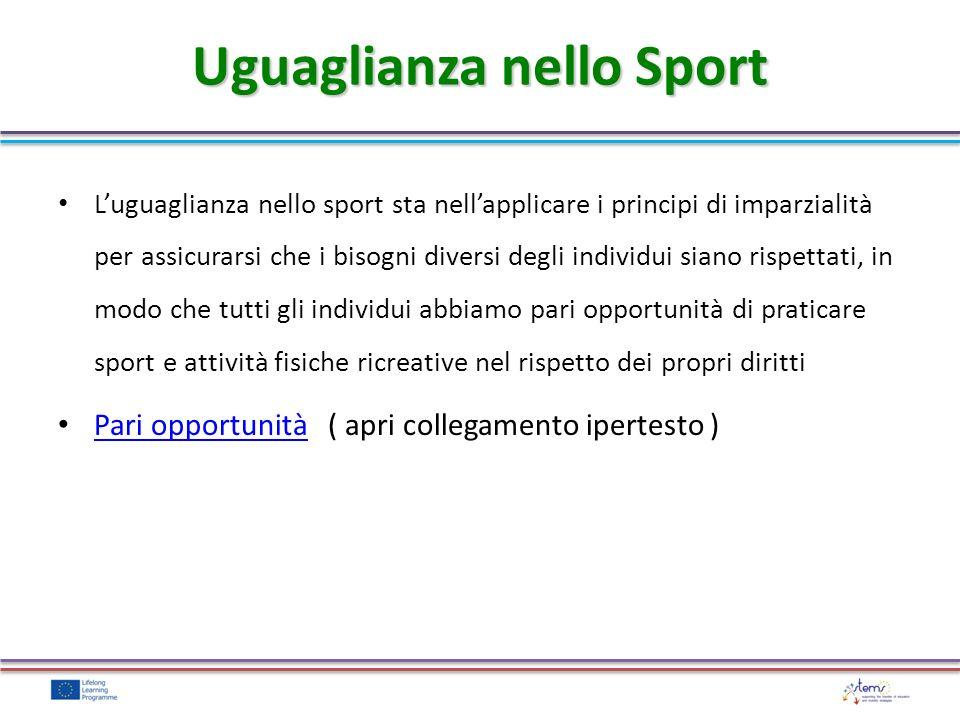 Uguaglianza nello Sport