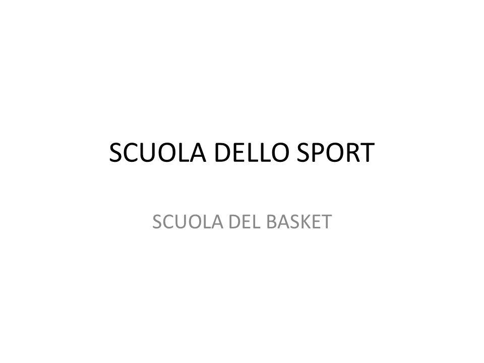 SCUOLA DELLO SPORT SCUOLA DEL BASKET