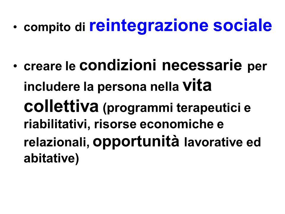 compito di reintegrazione sociale