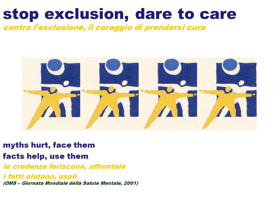 stop exclusion, dare to care contro l'esclusione, il coraggio di prendersi cura