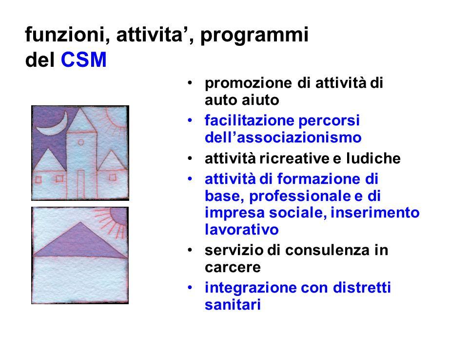 funzioni, attivita', programmi del CSM