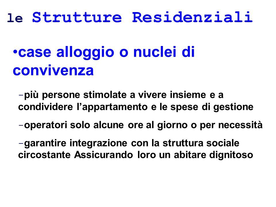 le Strutture Residenziali