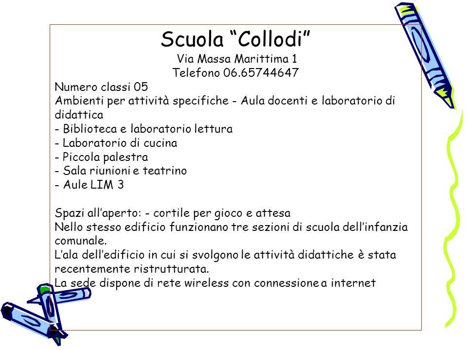 Scuola Collodi Via Massa Marittima 1 Telefono 06.65744647