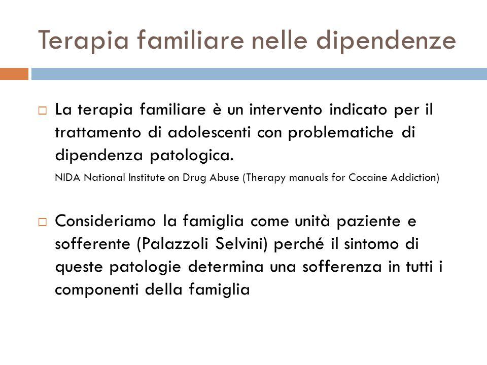 Terapia familiare nelle dipendenze