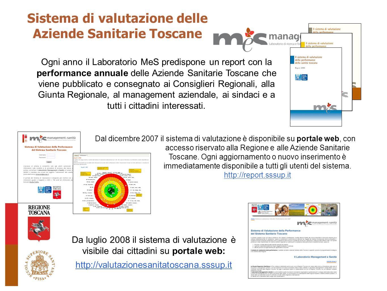 Sistema di valutazione delle Aziende Sanitarie Toscane