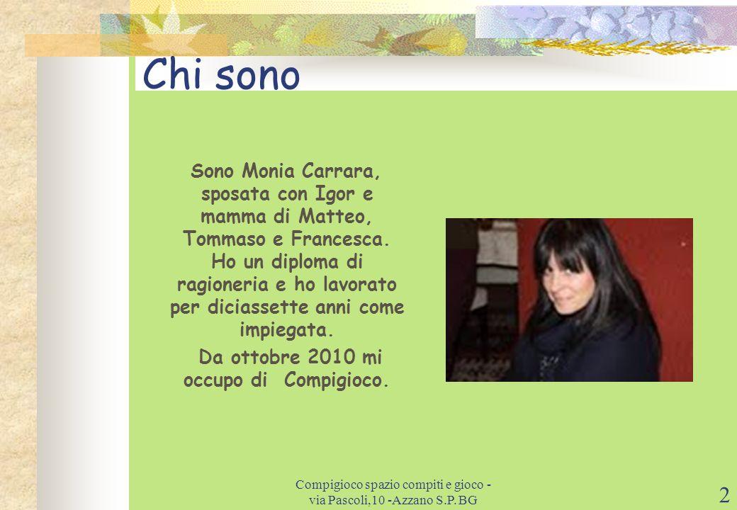 Da ottobre 2010 mi occupo di Compigioco.