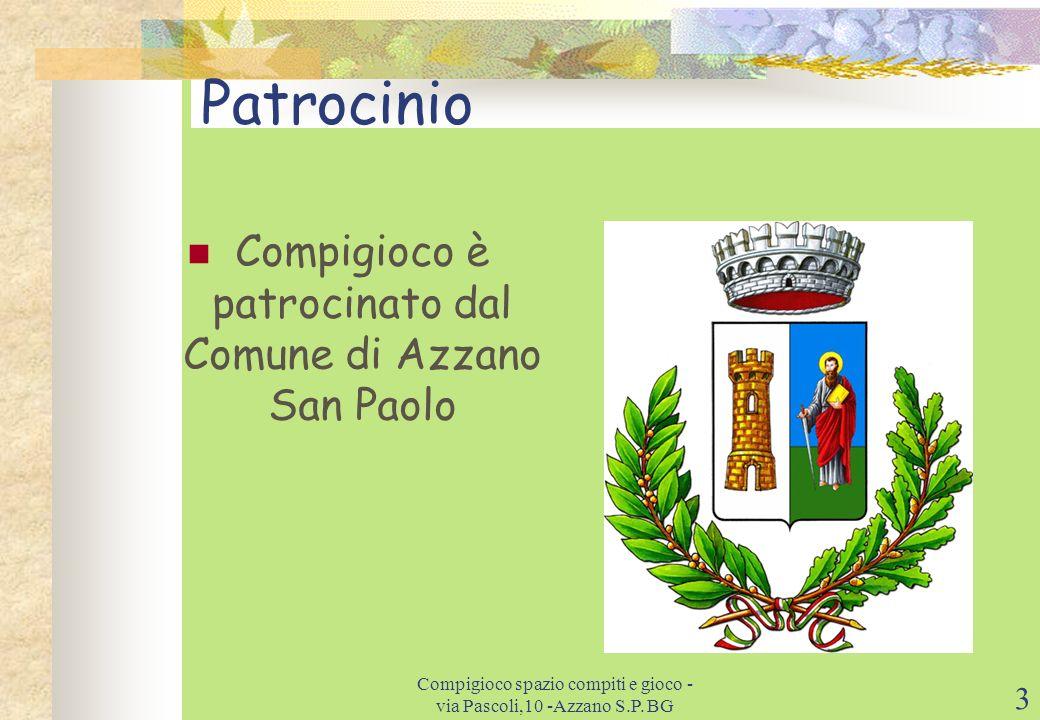 Patrocinio Compigioco è patrocinato dal Comune di Azzano San Paolo