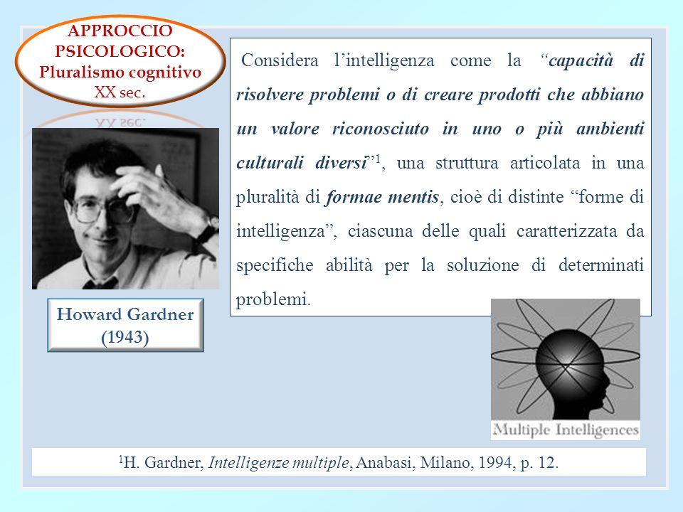 1H. Gardner, Intelligenze multiple, Anabasi, Milano, 1994, p. 12.