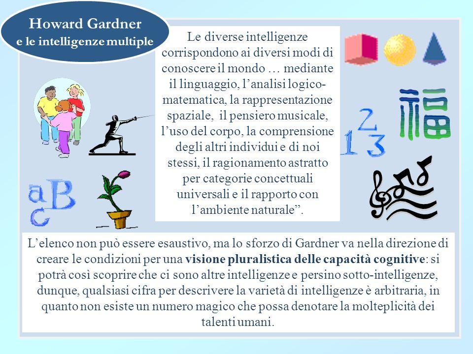 e le intelligenze multiple