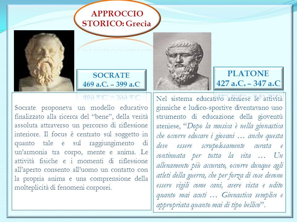 APPROCCIO STORICO: Grecia PLATONE 427 a.C. – 347 a.C