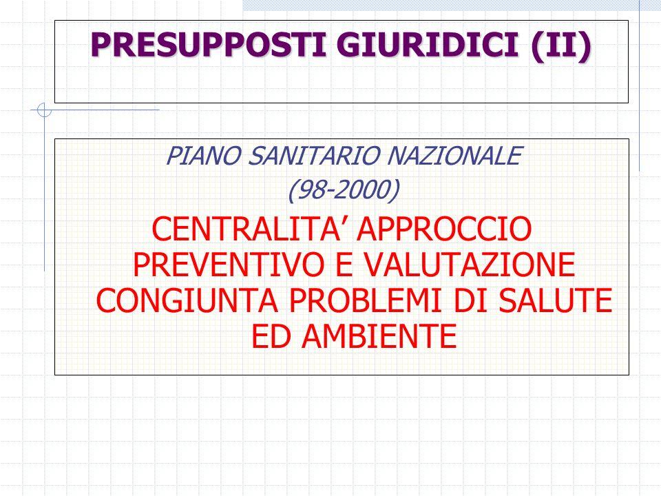 PRESUPPOSTI GIURIDICI (II)