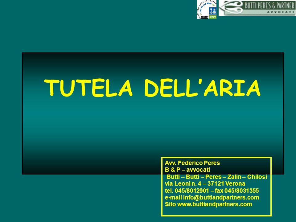 TUTELA DELL'ARIA Avv. Federico Peres B & P – avvocati