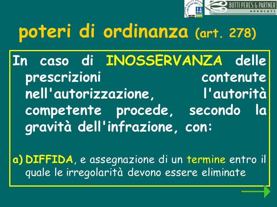 poteri di ordinanza (art. 278)
