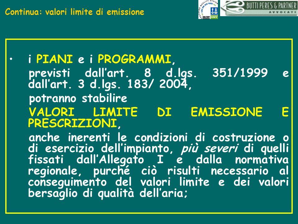 Continua: valori limite di emissione