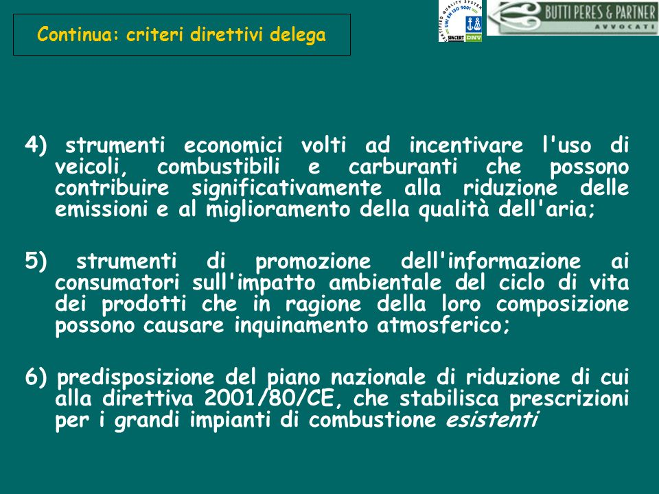 Continua: criteri direttivi delega