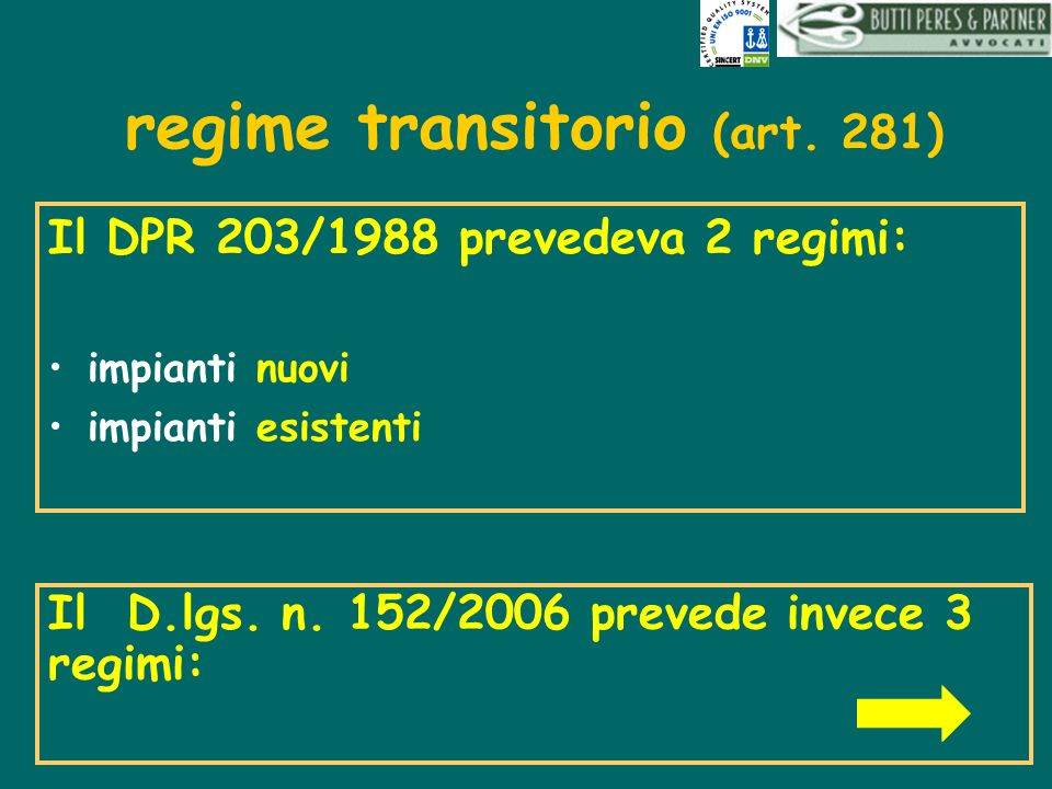 regime transitorio (art. 281)
