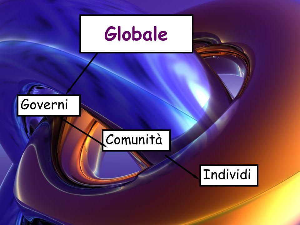 Globale Governi Comunità Individi