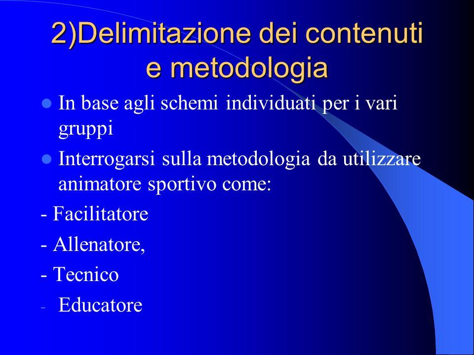 2)Delimitazione dei contenuti e metodologia