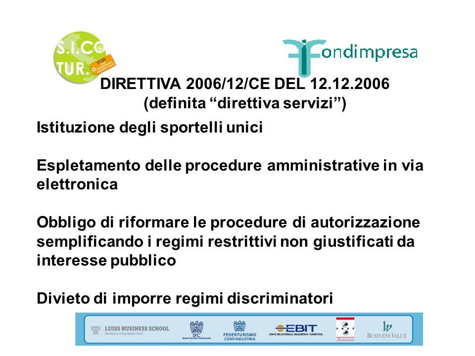 (definita direttiva servizi )