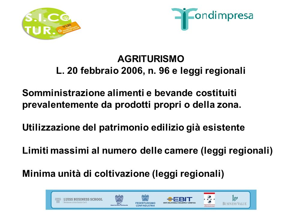 L. 20 febbraio 2006, n. 96 e leggi regionali