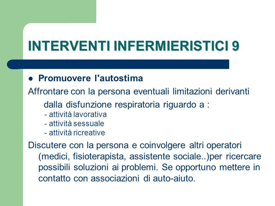 INTERVENTI INFERMIERISTICI 9