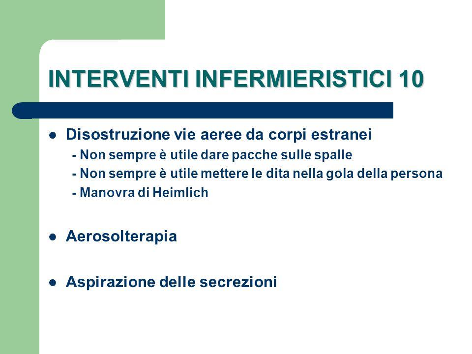 INTERVENTI INFERMIERISTICI 10
