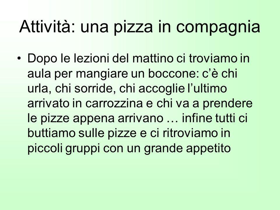 Attività: una pizza in compagnia
