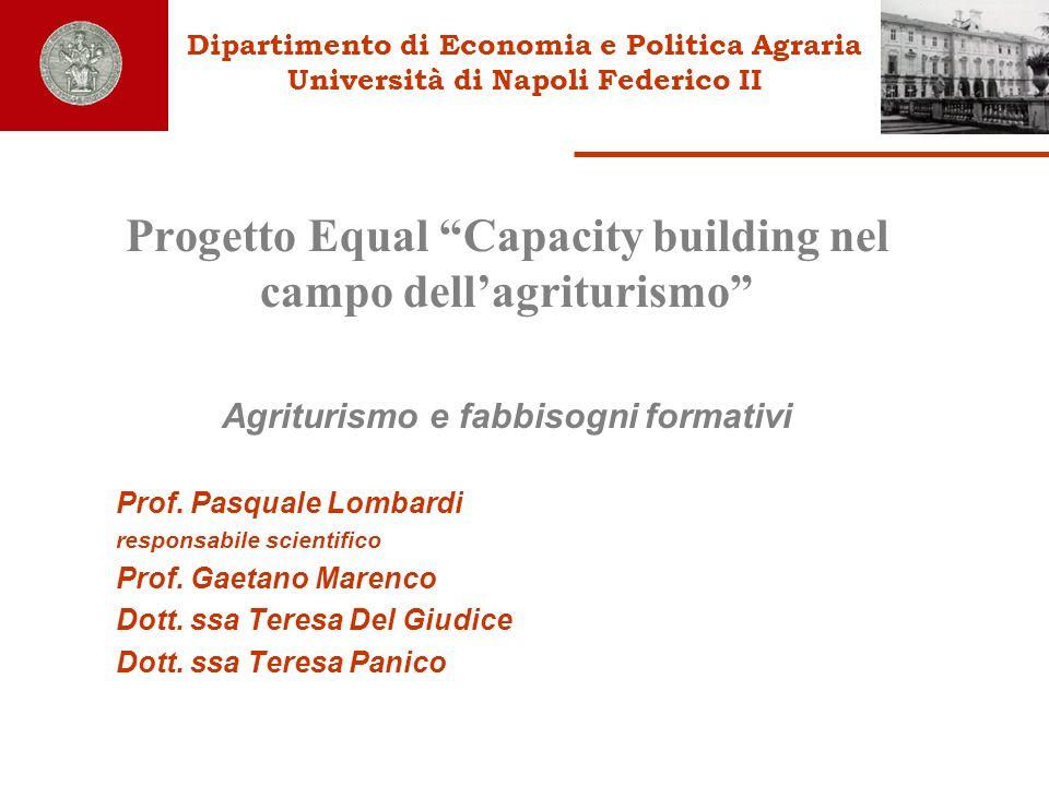 Progetto Equal Capacity building nel campo dell'agriturismo