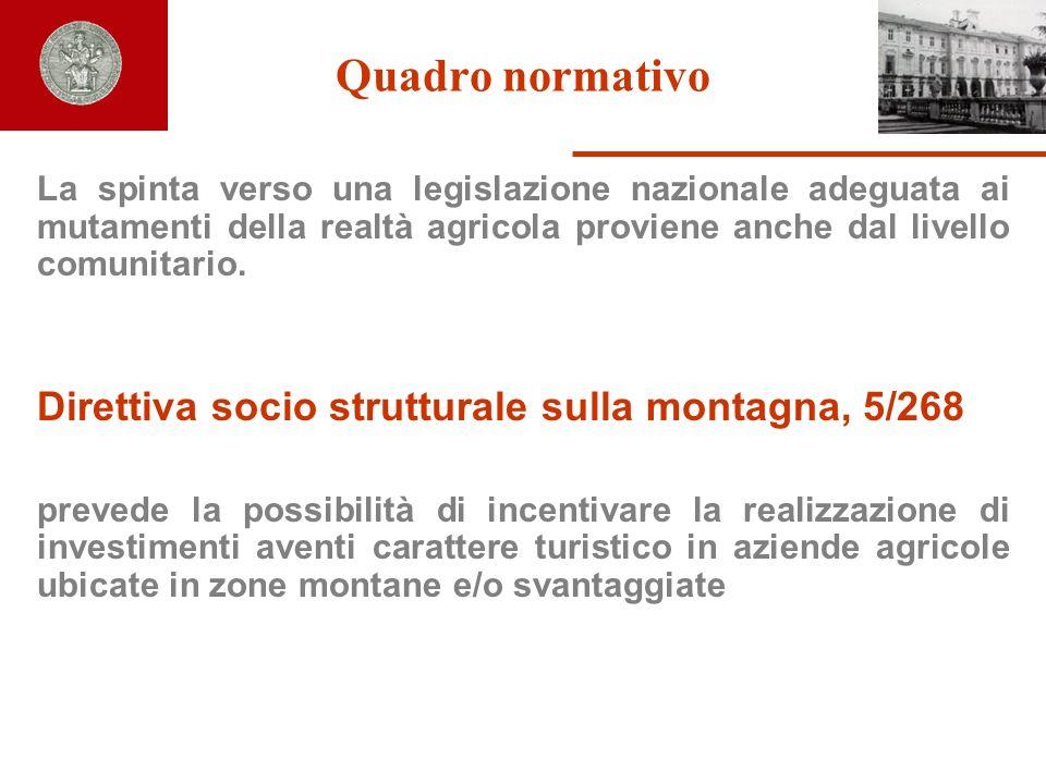 Quadro normativo Direttiva socio strutturale sulla montagna, 5/268