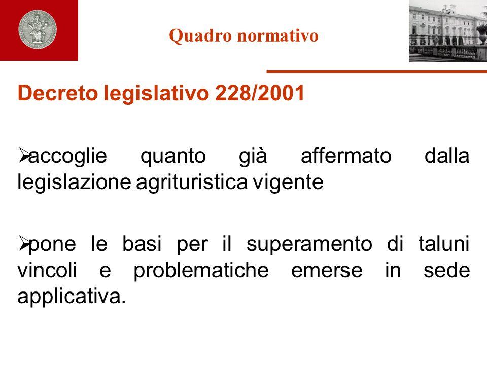 accoglie quanto già affermato dalla legislazione agrituristica vigente