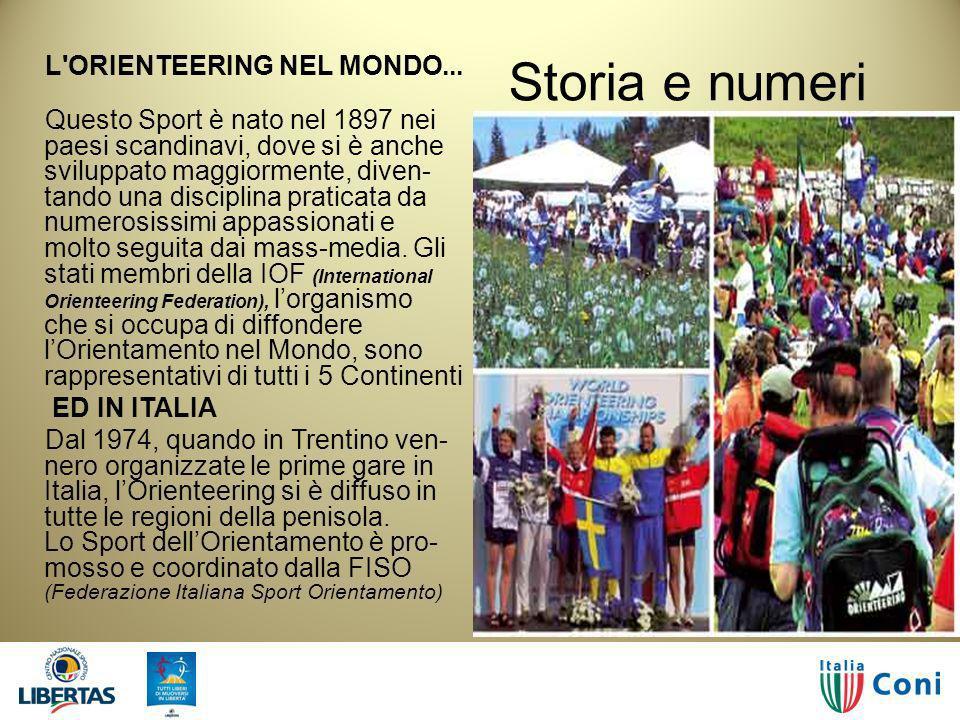 Storia e numeri L ORIENTEERING NEL MONDO...
