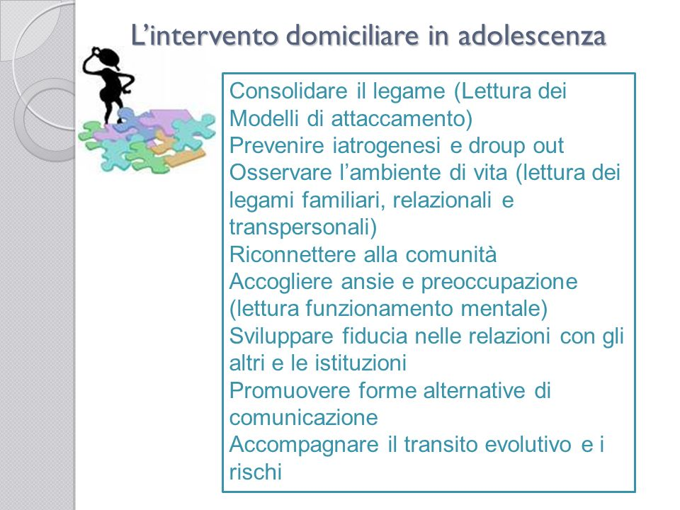 L'intervento domiciliare in adolescenza