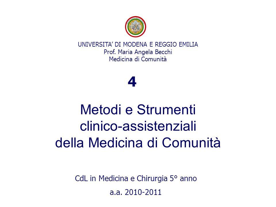 clinico-assistenziali della Medicina di Comunità
