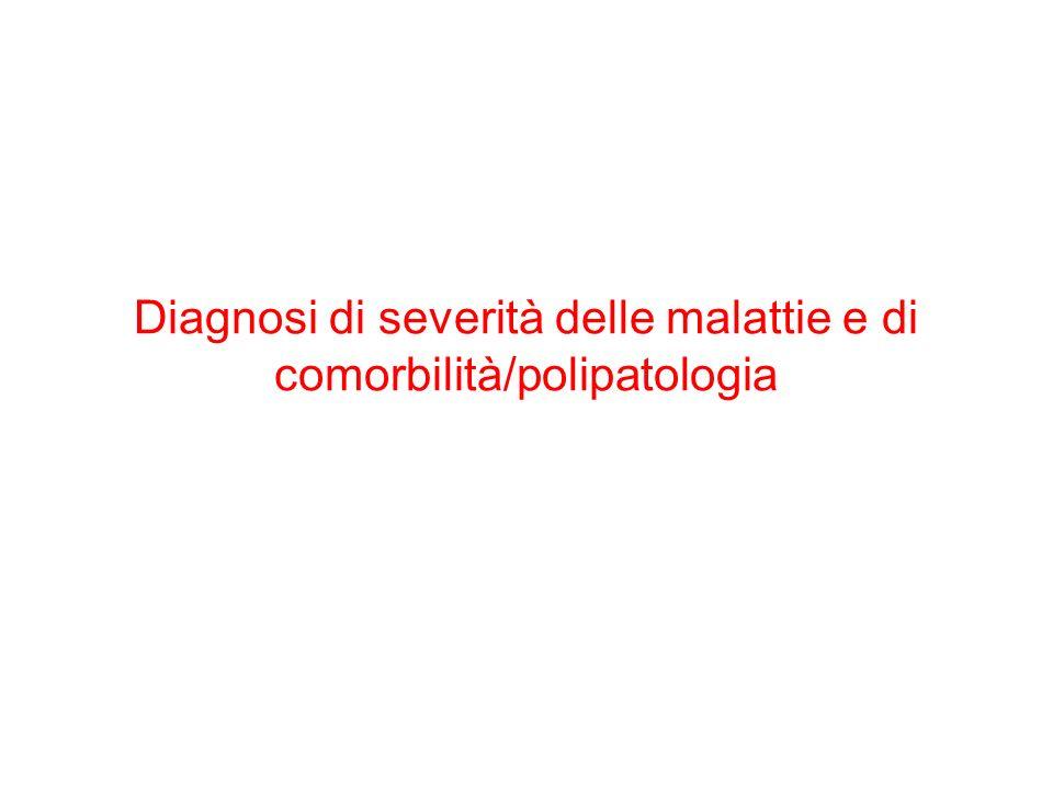 Diagnosi di severità delle malattie e di comorbilità/polipatologia