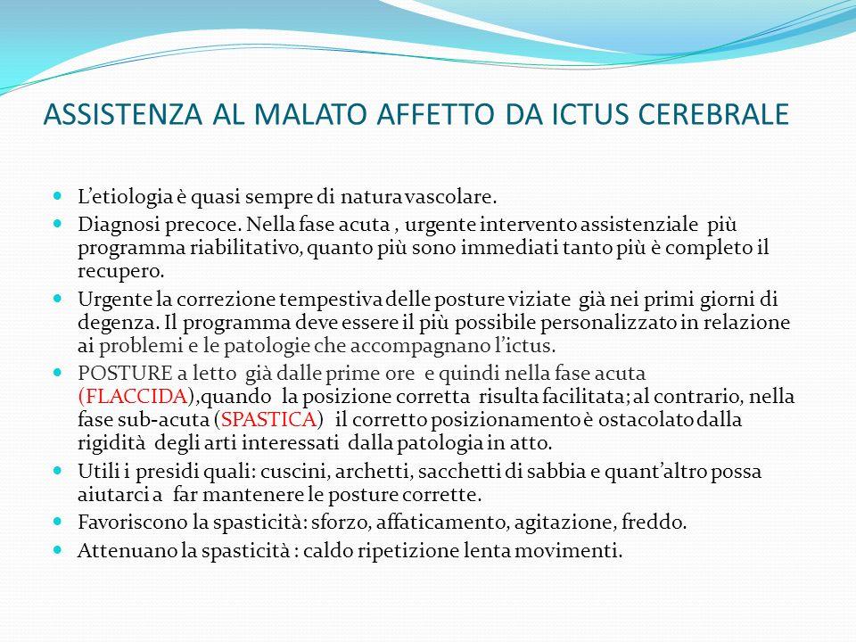ASSISTENZA AL MALATO AFFETTO DA ICTUS CEREBRALE